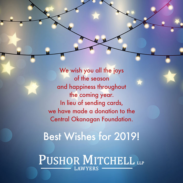 Happy Holidays And Best Wishes For 2019!